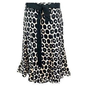 Gerard Darel light gray and black patterned skirt